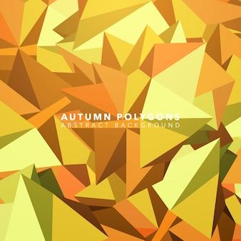 Abstracte polygoon herfst achtergrond