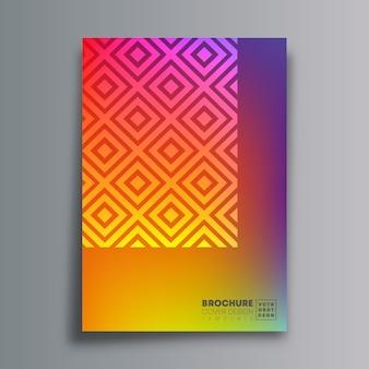 Abstracte poster met ruit en kleurovergang textuur