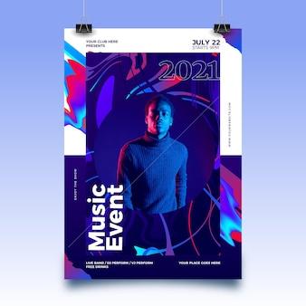 Abstracte poster voor sportevenementen voor 2021