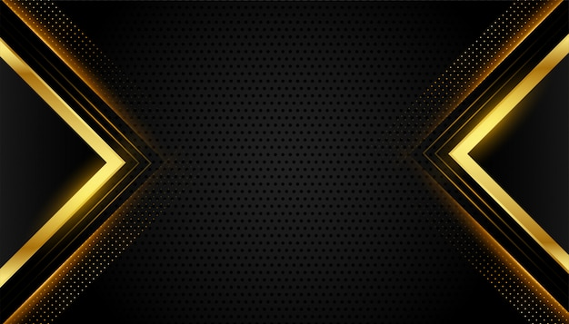 Abstracte premium zwarte en gouden geometrische achtergrond