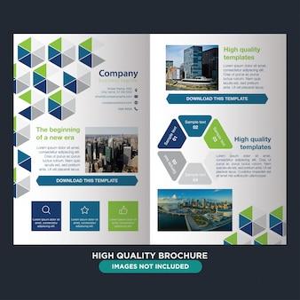 Abstracte professionele brochure voor het bedrijfsleven