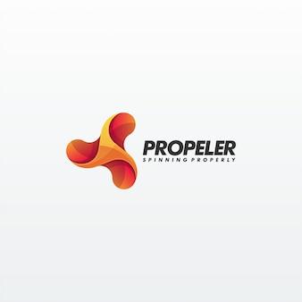 Abstracte propeller premium vector sjabloon
