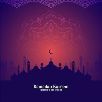 Abstracte ramadan kareem-mooie achtergrond