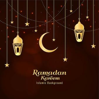 Abstracte ramadan kareem religieuze groet achtergrond