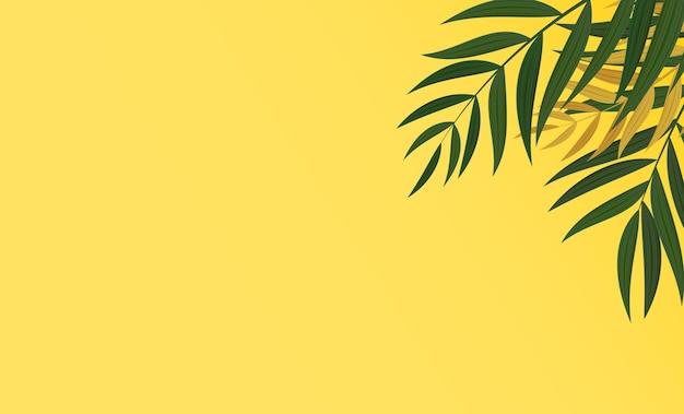 Abstracte realistische groene palm blad tropische achtergrond.