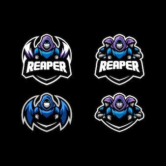 Abstracte reaper concept illustratie vector ontwerpsjabloon