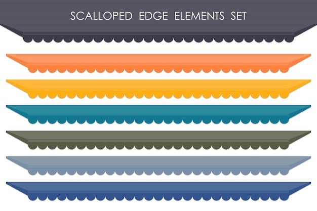Abstracte reeks van de markt geschulpte achtergrond van het de kleurenelement van het markeringsontwerp.