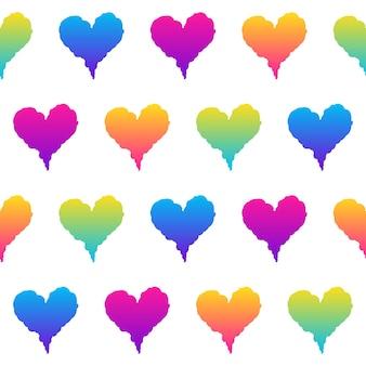 Abstracte regenboog naadloze patroon achtergrond. modern staal voor wenskaart, uitnodiging voor verjaardagsfeestje, menu, behang, vakantiewinkelverkoop, tasafdruk, t-shirt, workshopreclame enz.