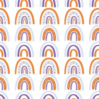 Abstracte regenboog naadloze patroon. vector illustratie