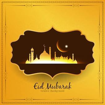 Abstracte religieuze eid mubarak islamitische frame achtergrond