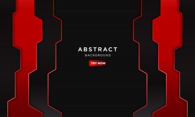 Abstracte rode achtergrond met moderne vorm, toekomstige robot concept