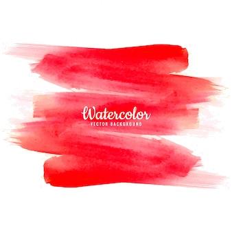 Abstracte rode aquarel hand tekenen lijn achtergrond