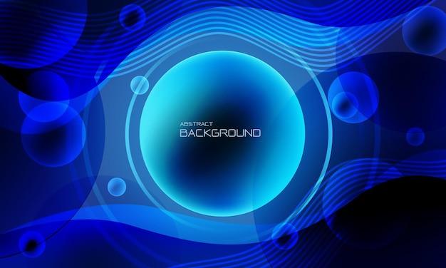 Abstracte rode cirkel lijn vloeistof vloeibare geometrisch ontwerp technologie futuristische achtergrond vector