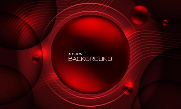 Abstracte rode cirkel vloeistof vloeibare geometrische ontwerp creatieve technologie futuristische achtergrond vector