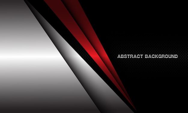 Abstracte rode driehoek zilveren schaduw donkere cirkel mesh patroon ontwerp moderne luxe futuristische achtergrond.