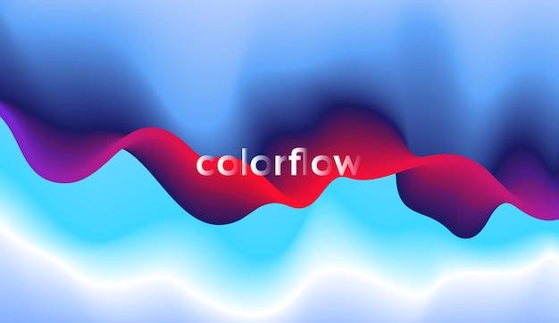 Abstracte rode en blauwe golf op donkere achtergrond