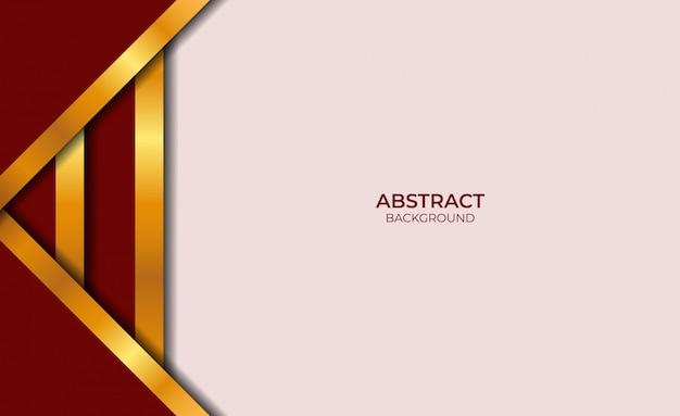 Abstracte rode en gouden stijl als achtergrond