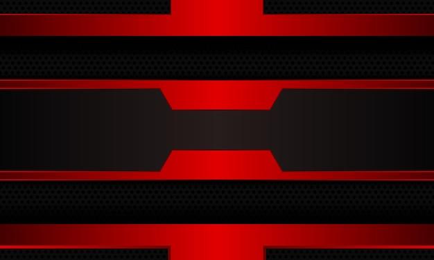 Abstracte rode futuristische op zwarte halftone achtergrond. een volledig nieuwe sjabloon voor uw ontwerp.