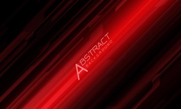 Abstracte rode lijn cyber geometrische dynamiek op zwart ontwerp moderne futuristische technische achtergrond