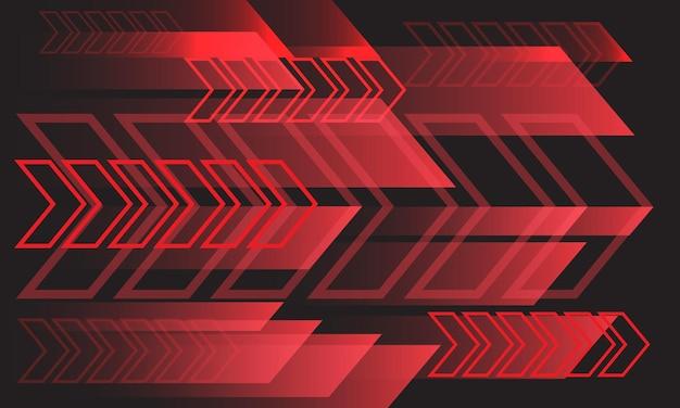 Abstracte rode lijn pijl geometrische richting op grijs ontwerp moderne futuristische technische achtergrond