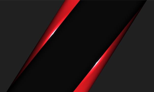 Abstracte rode metalen driehoek donkergrijze lege ruimte ontwerp moderne luxe futuristische achtergrond.