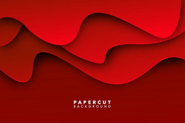 Abstracte rode papier gesneden achtergrond