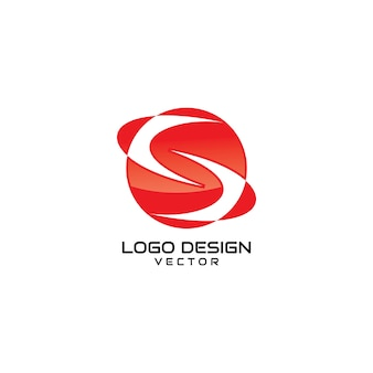 Abstracte rode s symbool logo design vector