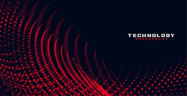 Abstracte rode vloeiende deeltjes achtergrond