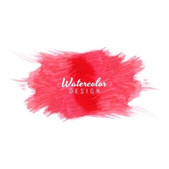 Abstracte rode waterverf vlek ontwerp achtergrond