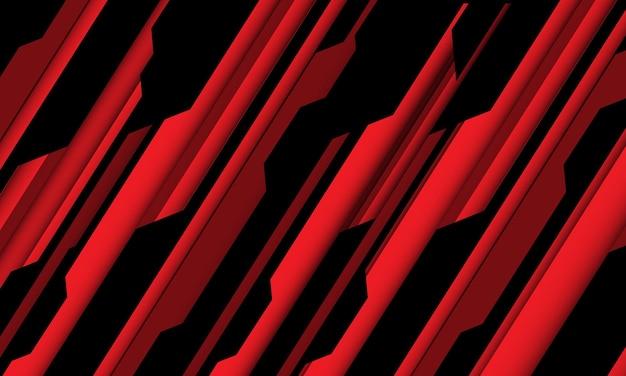 Abstracte rode zwarte cyber geometrische lijn schuine streep ontwerp moderne futuristische technische achtergrond