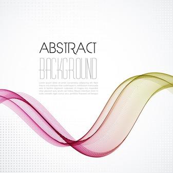 Abstracte rokerige golven achtergrond. brochure sjabloonontwerp