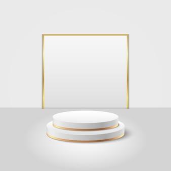 Abstracte ronde display voor product. minimale scène met geometrische vormen. cilinder podium