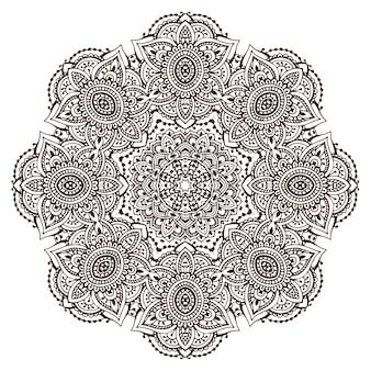 Abstracte ronde mandala van het kantontwerp, decoratief element