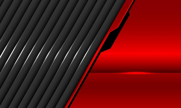 Abstracte rood grijze metalen overlap illustratie
