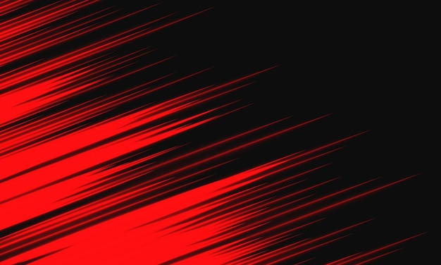 Abstracte rood licht snelheid dynamisch op zwarte achtergrond technologie vectorillustratie.