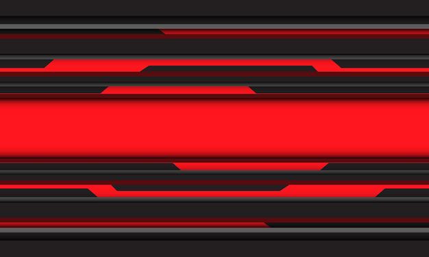 Abstracte rood zwart grijze cyber lijn geometrische technologie ontwerp moderne futuristische achtergrond