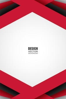 Abstracte rood-zwart-witte geometrische overlappingsachtergrond