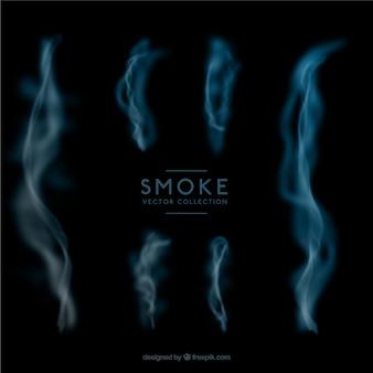 Abstracte rookt pakken