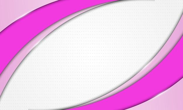 Abstracte roze gebogen overlappende laag met halftone achtergrond vectorillustratie