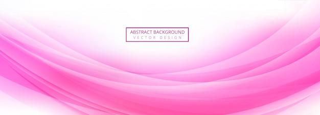 Abstracte roze golf banner sjabloon vector