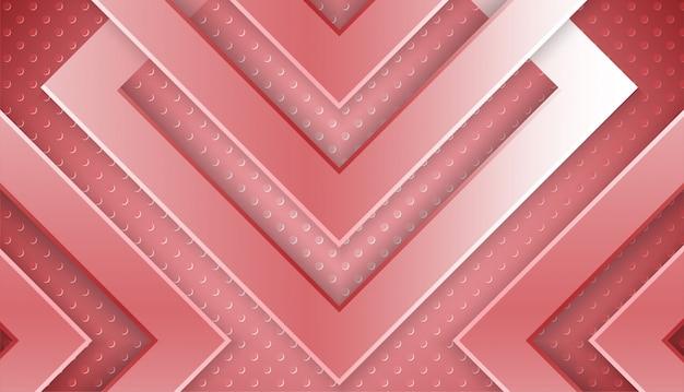 Abstracte roze metalen achtergrond met overlappende vorm en lichteffect