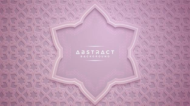 Abstracte roze papercut geweven achtergrond.