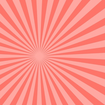 Abstracte roze zonnestralen achtergrond. illustratie.