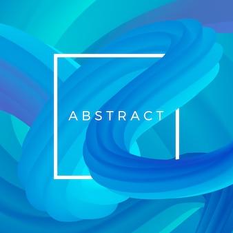 Abstracte samendrukkingsgolf. kleurrijke vloeibare vorm. 3d dynamische vorm achtergrond. illustratie