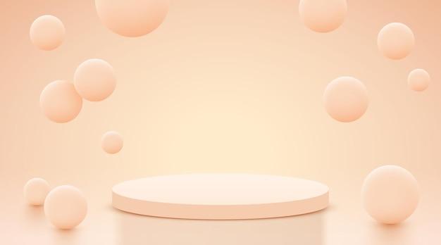 Abstracte scèneachtergrond met cilinderpodium