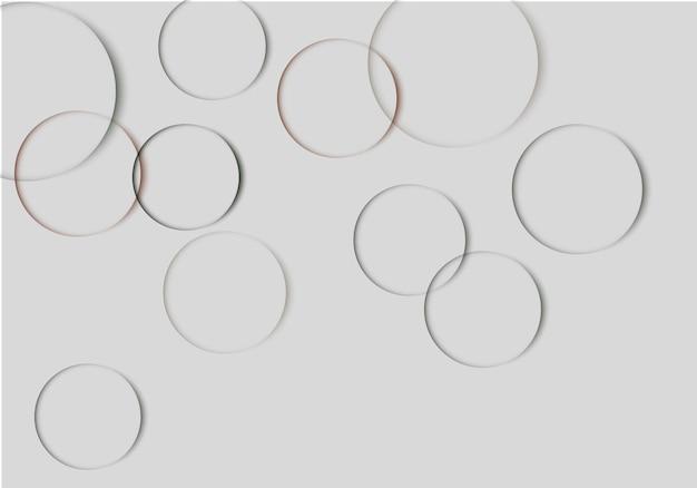 Abstracte schaduwen cirkel achtergrond vector illustratie