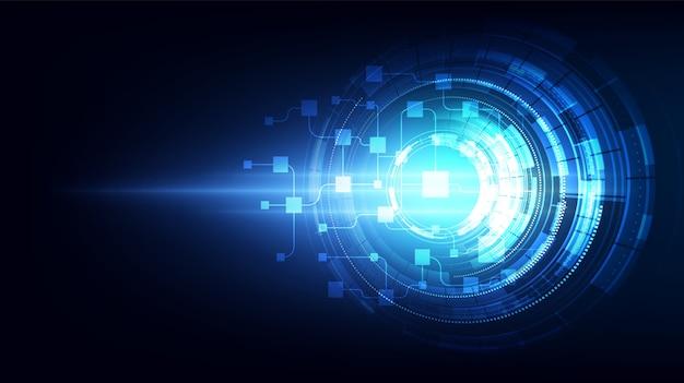 Abstracte schakeling networking blockchain