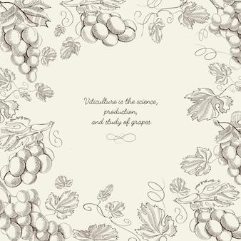 Abstracte schets natuurlijke berry sjabloon