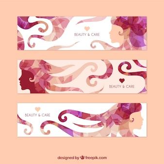 Abstracte schoonheid banners