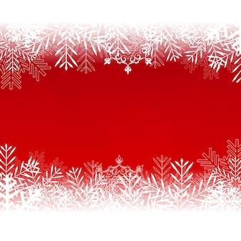 Abstracte schoonheid kerstmis en nieuwjaar achtergrond met sneeuw en sneeuwvlokken. illustratie